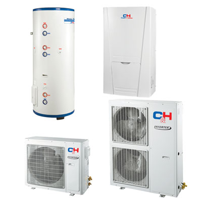Unitherm2 Тепловий насос для опалення / охолодження і гарячого водопостачання (R410A, INVERTER) CH-HP12SINM2