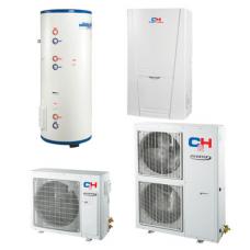 Unitherm Тепловий насос для опалення / охолодження і гарячого водопостачання (R410A, INVERTER) CH-HP8.0SINK